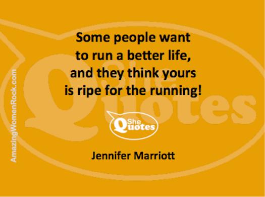 Jennifer Marriott run your life