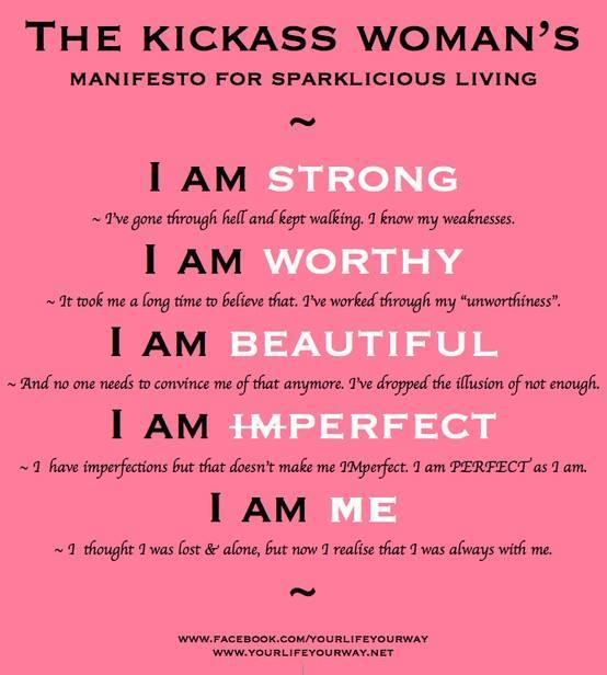 Kickass woman's manifesto
