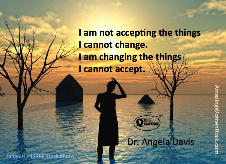 Dr. Angela Davis cannot accept