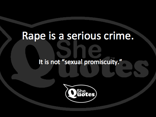 It's not sexual promiscuity